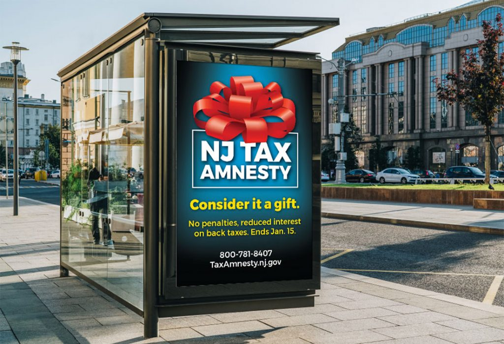 NJ Tax Amnesty 2018 – Bus Shelter