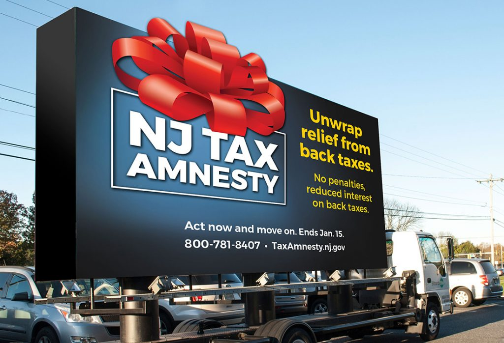 NJ Tax Amnesty 2018 – Mobile Billboard