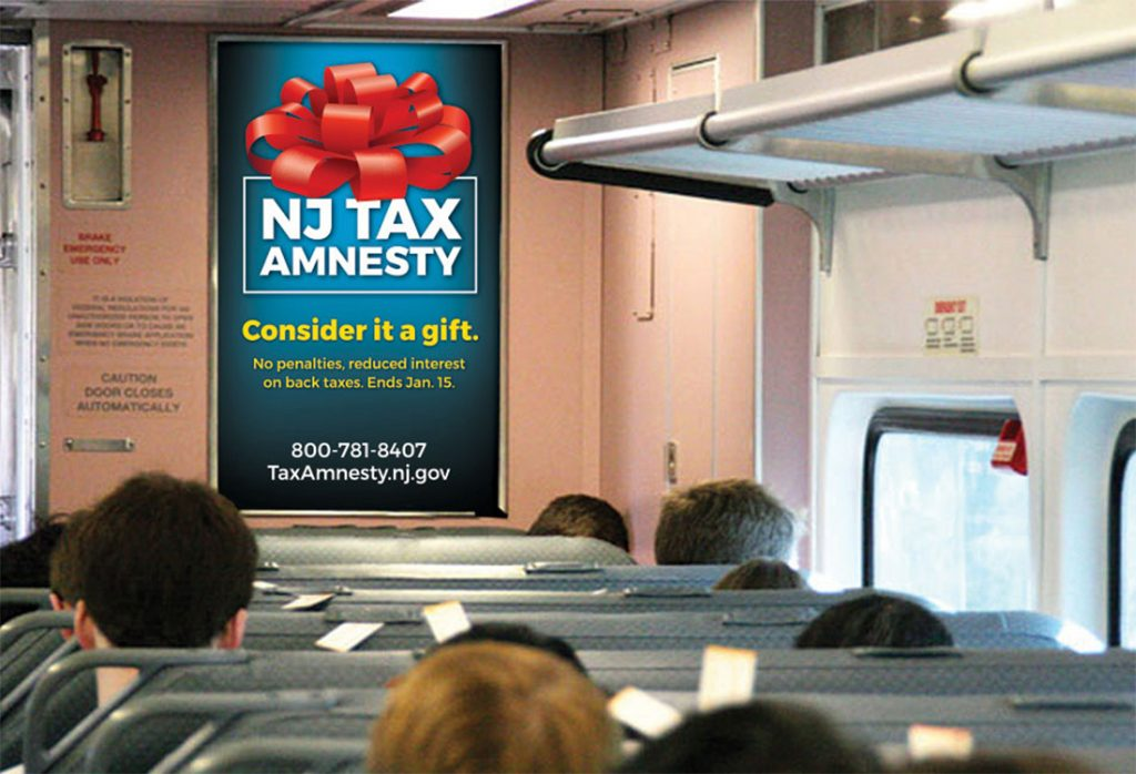 NJ Tax Amnesty 2018 – Train Poster